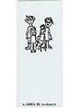 Lettepress bookmark of Monsters on Jasminbe St. by Carol Es