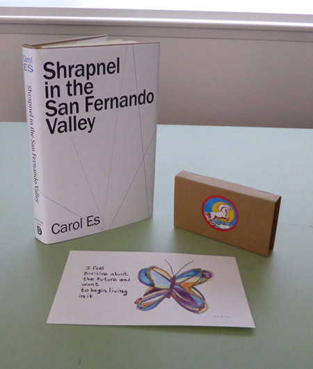 Shrapnel in the San Fernando Valley by Carol Es: Special limited edition in dust jacket with unicorn tape and original painting