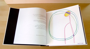 Carol Es une Monographie de Lignes - an Artist's Book by Carol Es - original color pencil drawing
