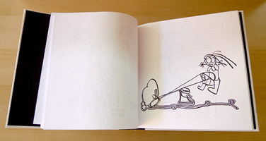 Carol Es une Monographie de Lignes - an Artist's Book by Carol Es - teeter-totter ink drawing