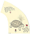 The Journal Project by Carol Es - Desert Tortoise, mixed media on garment pattern
